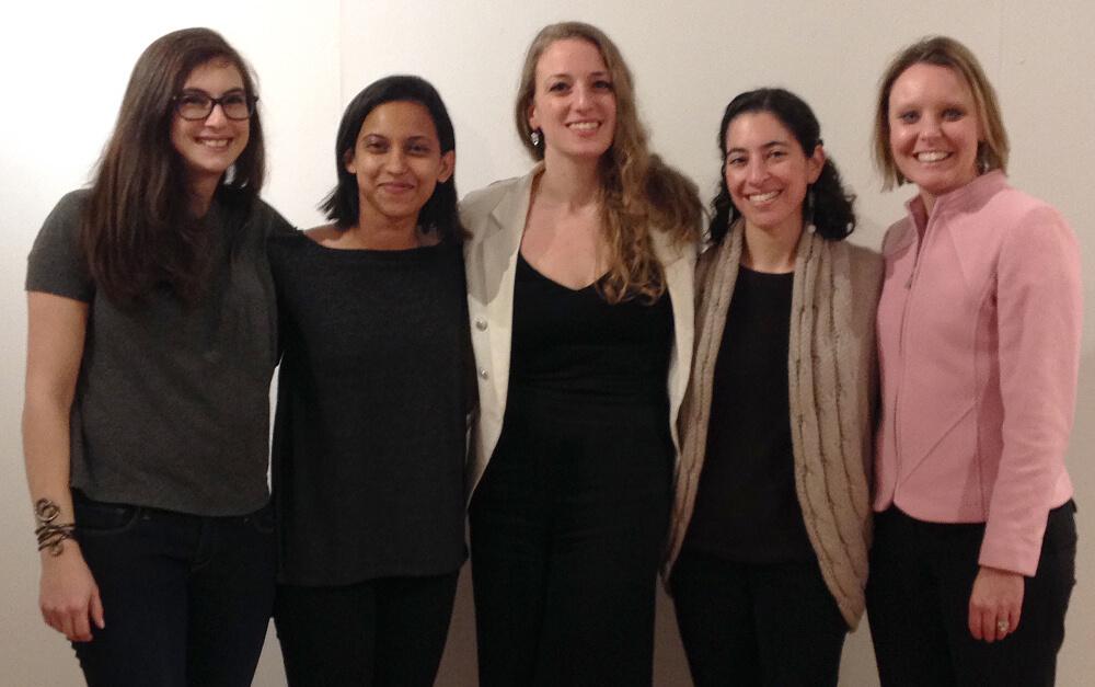 denison alumni dance panelPictured: Ilana Silverstein, Umeshi Rajeendra, Alexandra Rose, Emily Morgan, Shannon (Lengerich) Suffletto