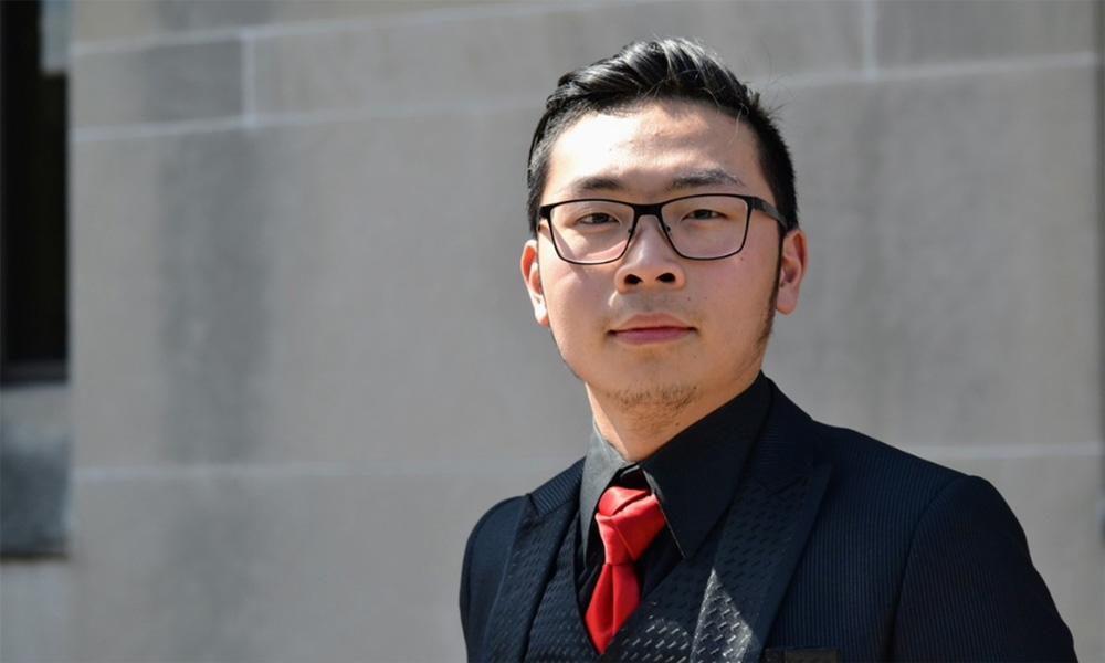 Entrepreneur Alan Phung '22, founder of Mai Coffee