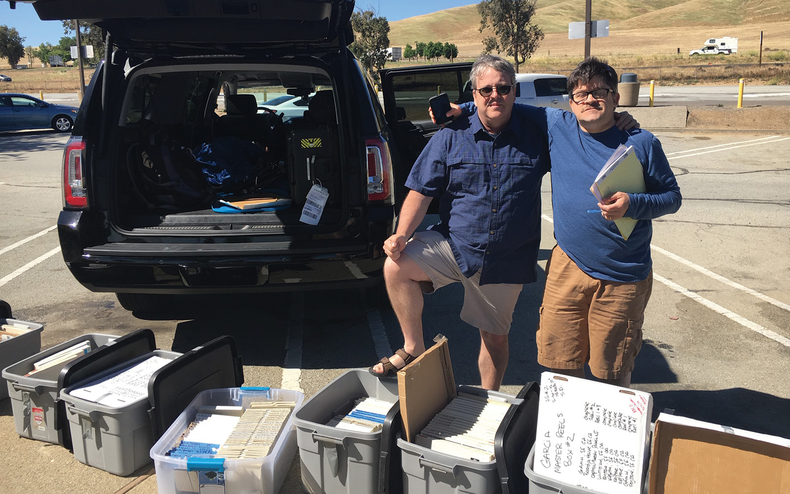 Andy Acker '83 and his friend Jeff Butler personally delivered the reels to Burbank, California.