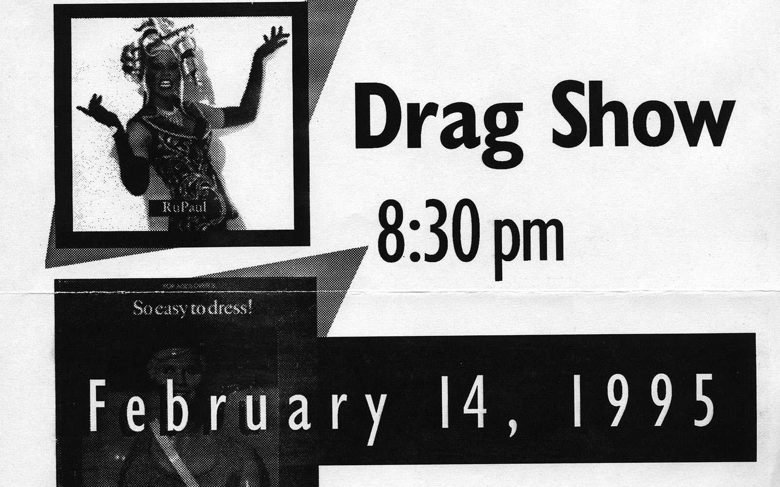 1995 - Students and faculty begin to offer new programming to support the LGBT community. Some of it was to raise awareness of the issues, and some of it, like the annual drag show, was just plain fun.