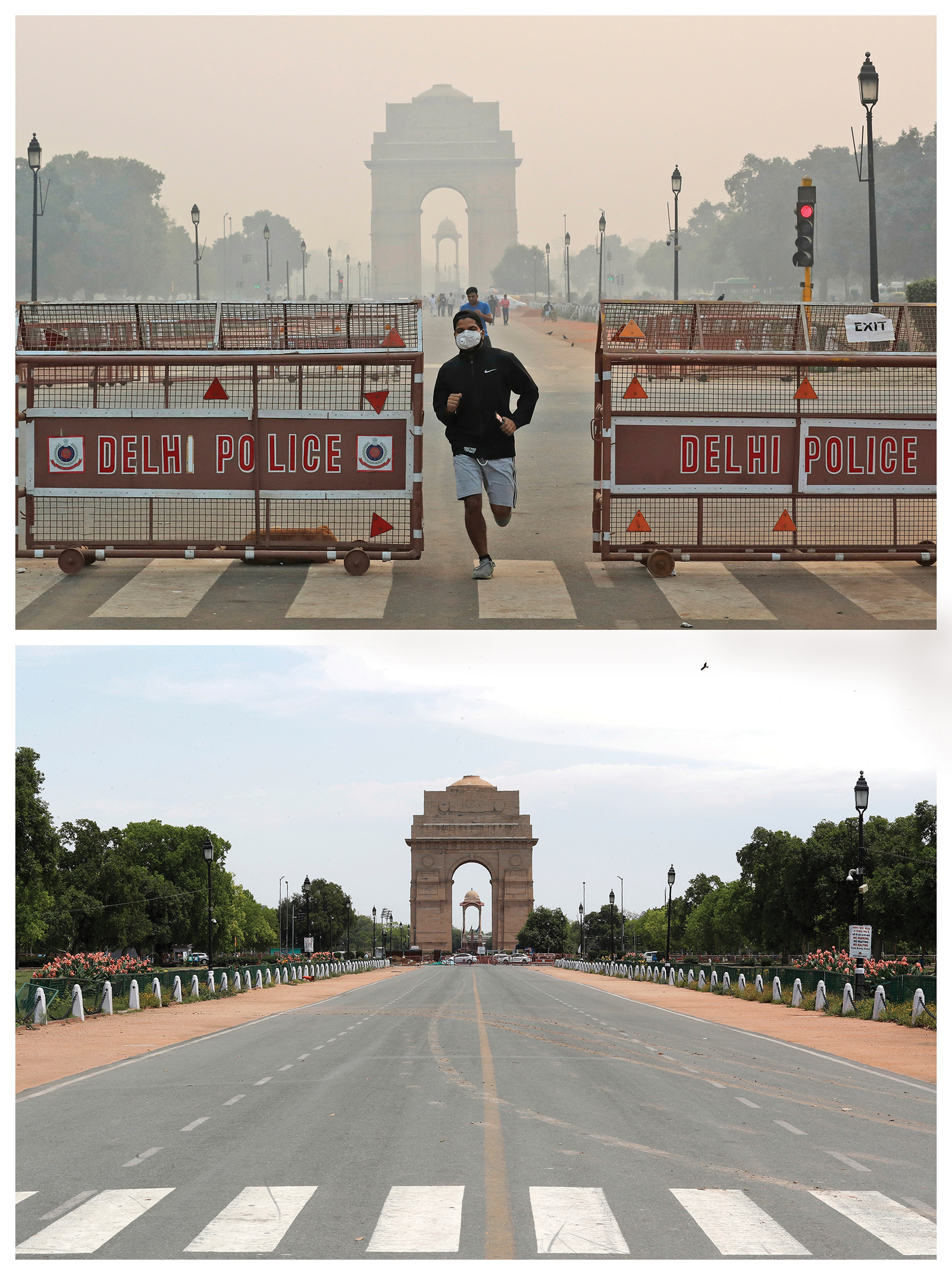 """The pandemic has shifted investor priorities in what Hartford calls """"an awareness wake-up call."""" This metropolitan area in India, once covered in smog, was clear during the pandemic when fewer people were out on the road, causing many to look at the ways our everyday choices are affecting the planet."""