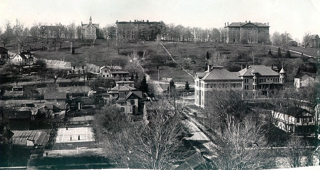 View of Denison's Campus, 1892.