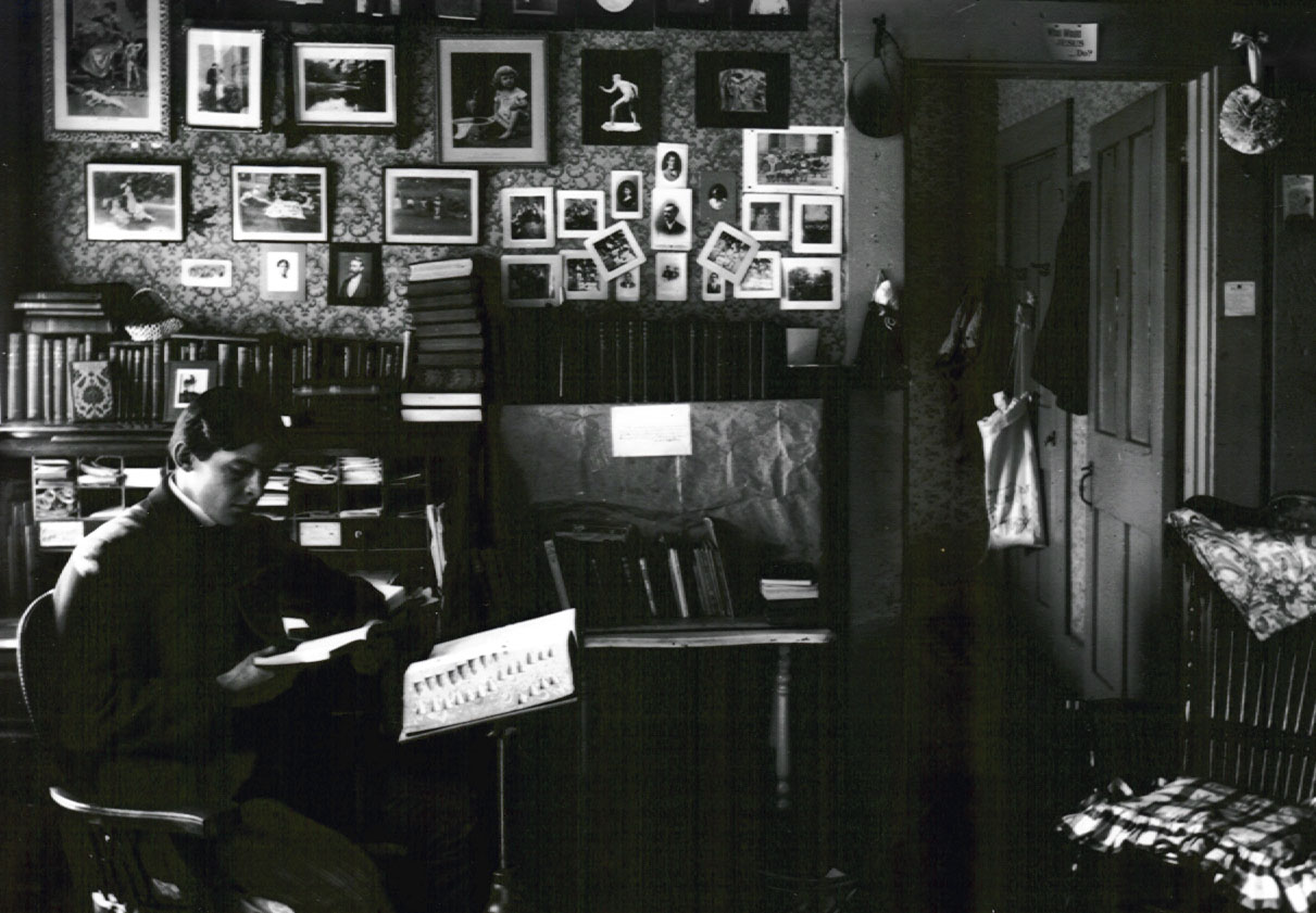 Men's Dorm Room at Denison, Circa 1880's.