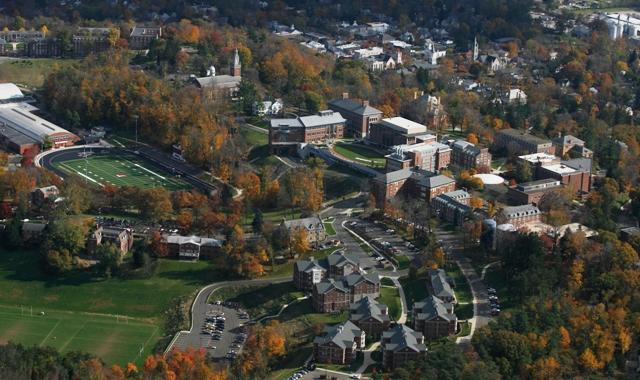 Aerial Shot of Denison Campus