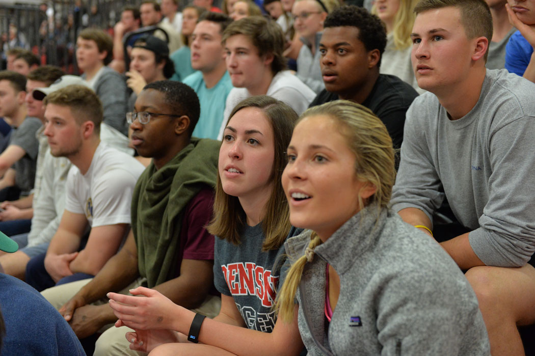 Students watching a game