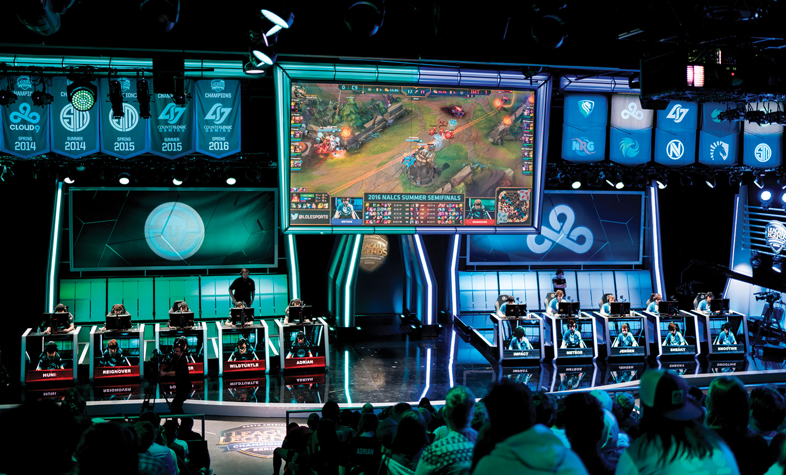 Cloud9 takes on Immortals in the 2016 Summer Semifinals of the North American League of Legends Championship Series (NA LCS) Summer Split at the NA LCS Studio in Los Angeles, California.