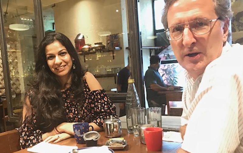 Gauri Bhure and John Cort in Mumbai, 2018.