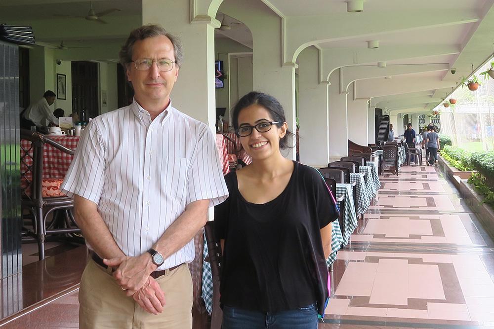 John and Nitya '14 in Mumbai