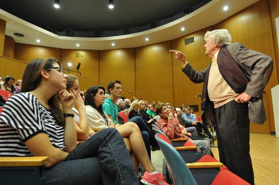 Hal Holbrook  talks about time at Denison11