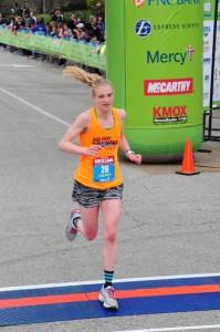 Andrea Karl running in marathon