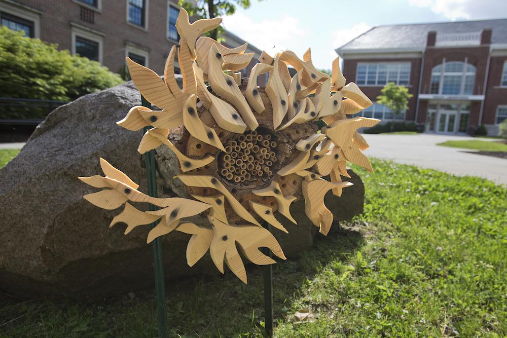 Bee hotel sculpture