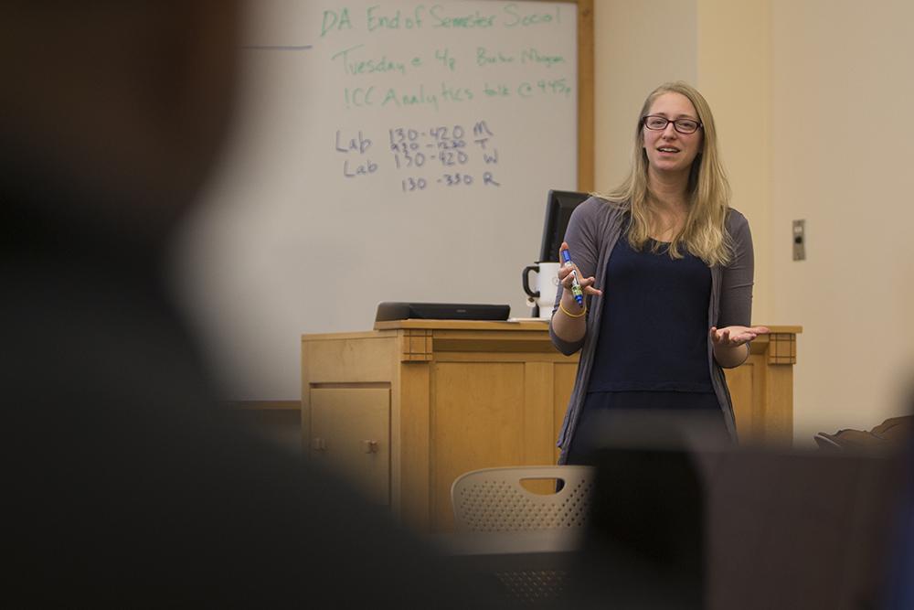 Data Analytics professor Sarah Supp.