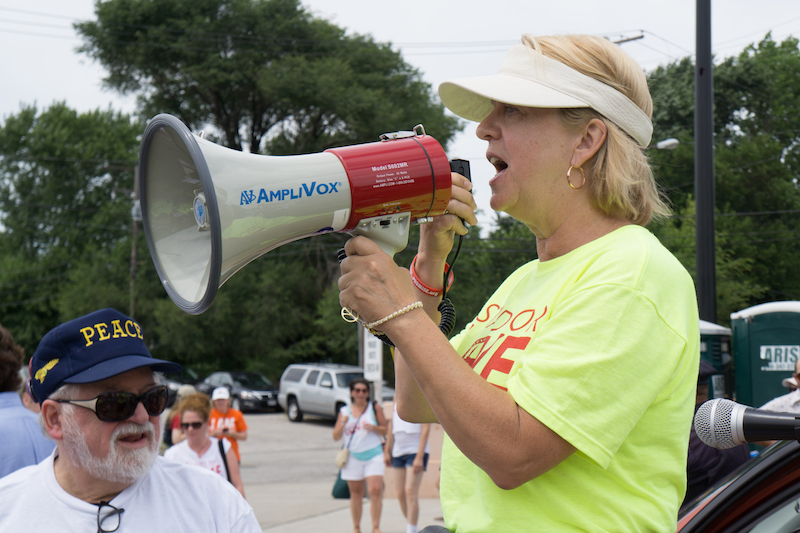 "Joy Roller '76, coordinator of Cleveland's ""Circle the City With Love."""