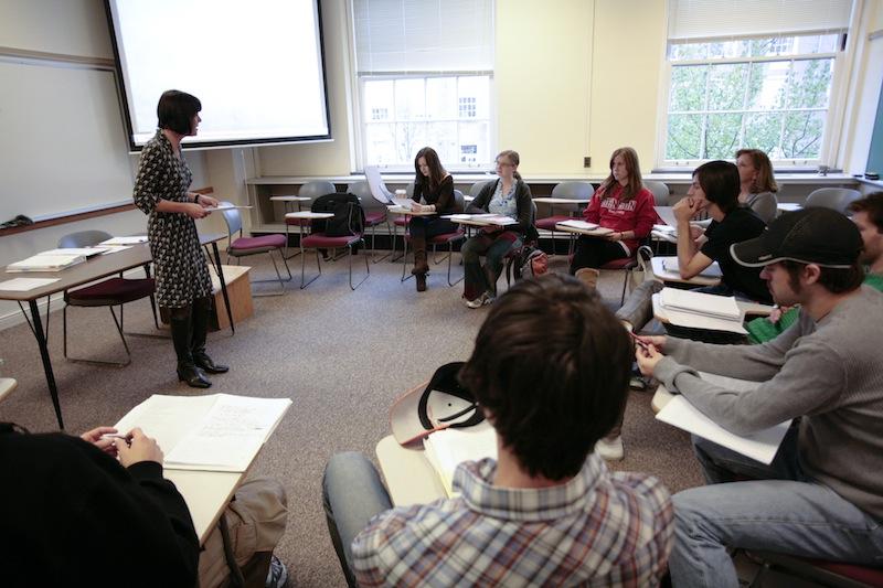 Gabriele Dillmann in the classroom