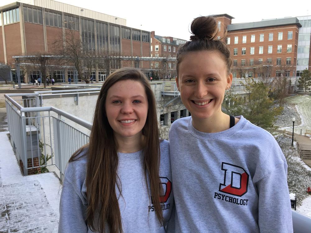 Megan Jamison '18 and Sophie Conlon '18