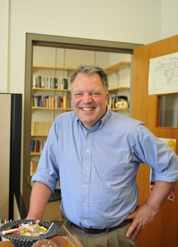 Mark Moller portrait in his office