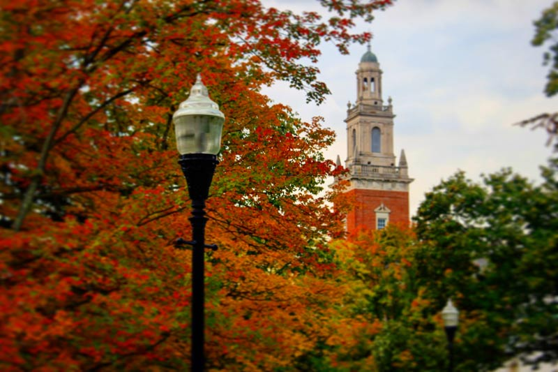 Swasey Chapel in the fall