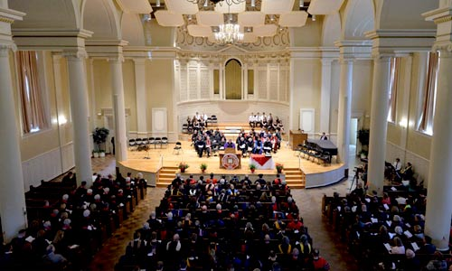 Denison's Academic Awards Convocation in Swasey Chaple