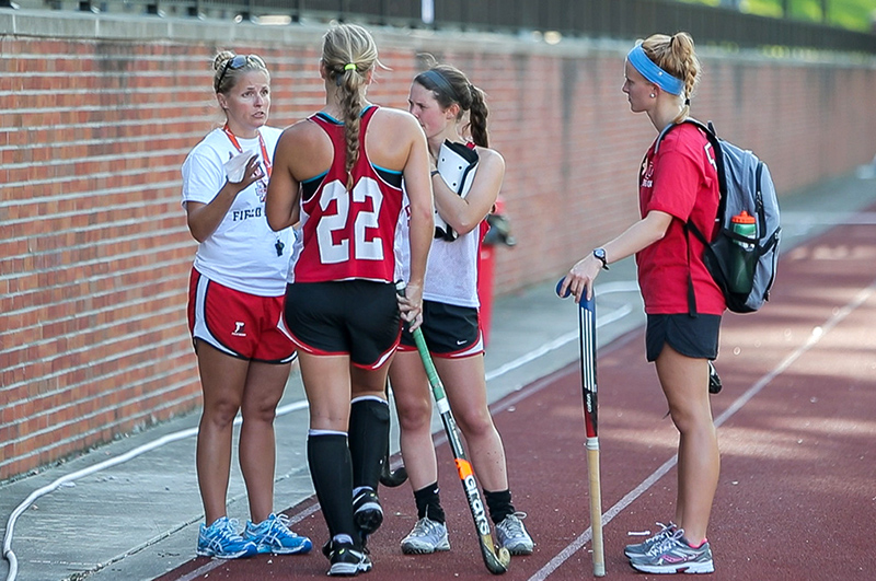 Head Field Hockey Coach P.J. Soteriades.