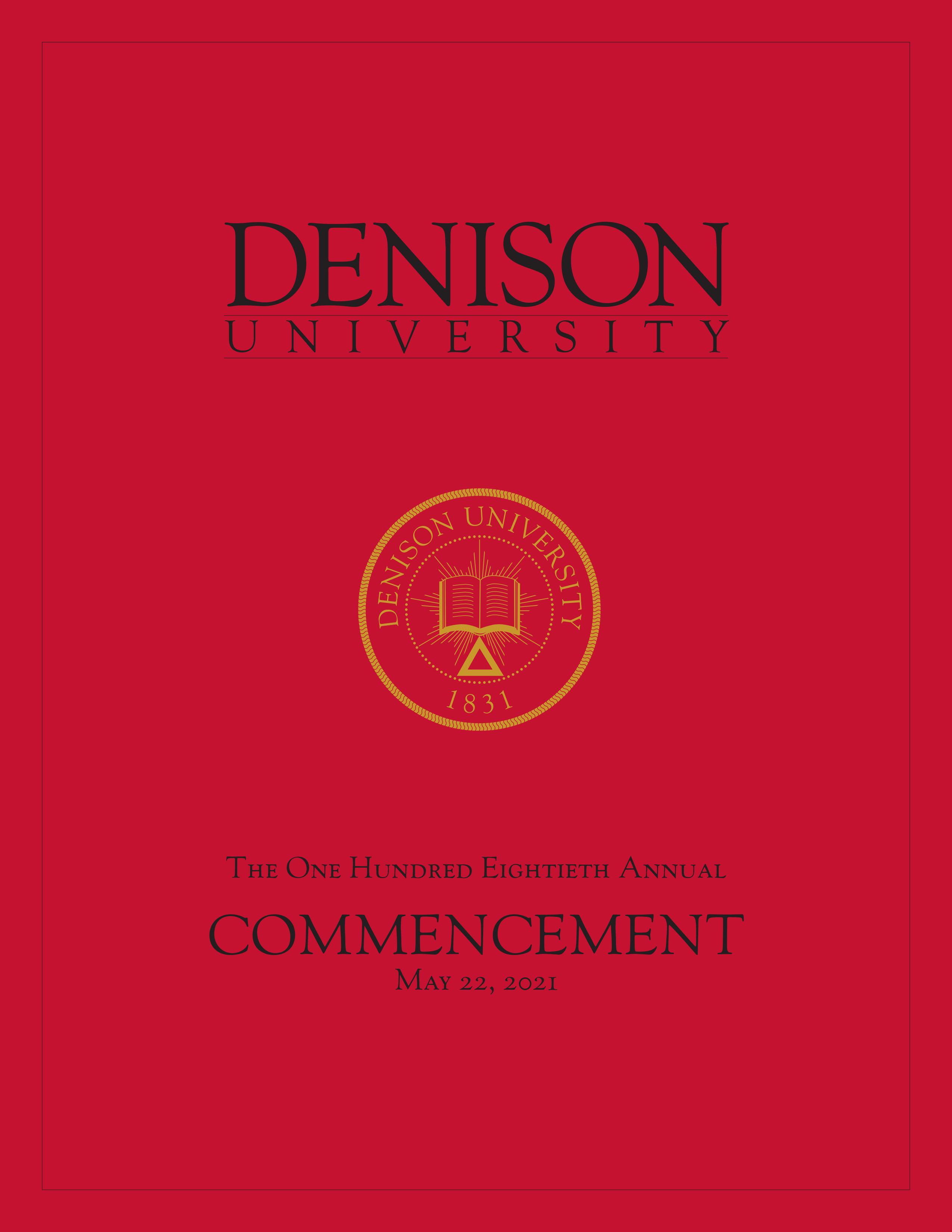 2021 Commencement Program