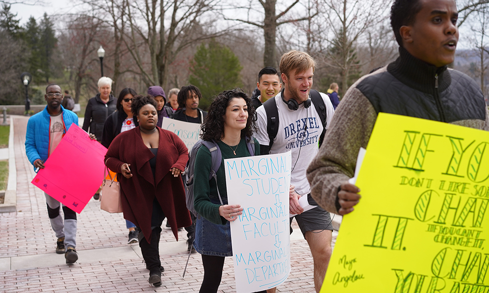 Student antiracism march