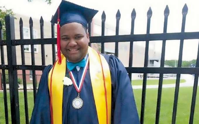 Although it was a struggle at times, Bernabe graduated from Lawrence's Performing and Fine Arts School in 2013.