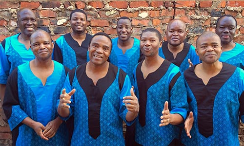Photo of South African a cappella group Ladysmith Black Mambazo