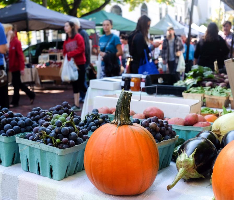 Granville's local farmer's market
