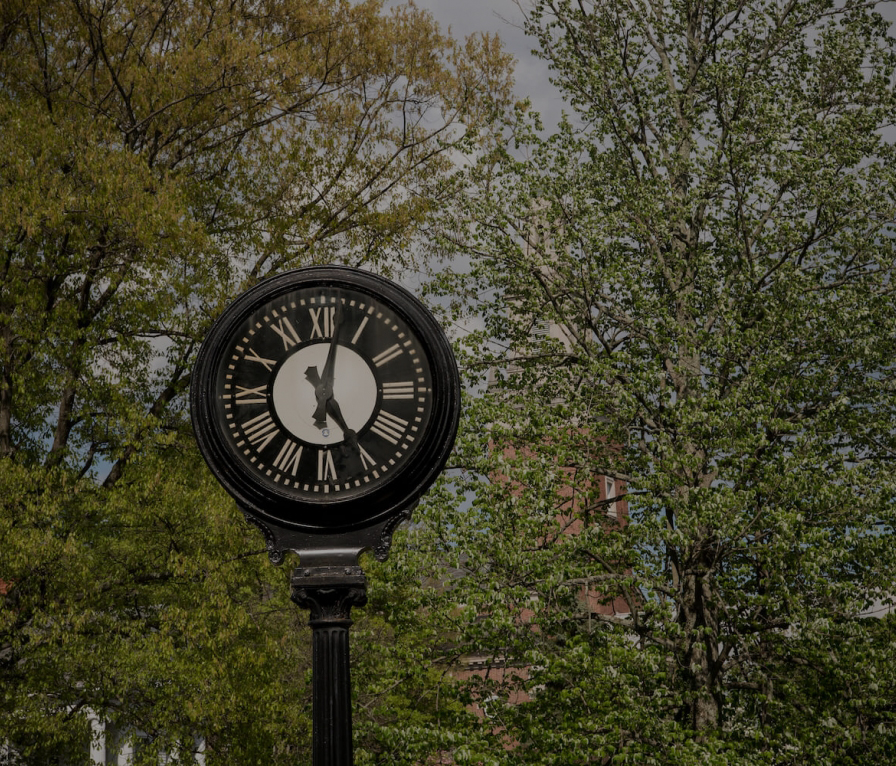 Clock on chapel walk