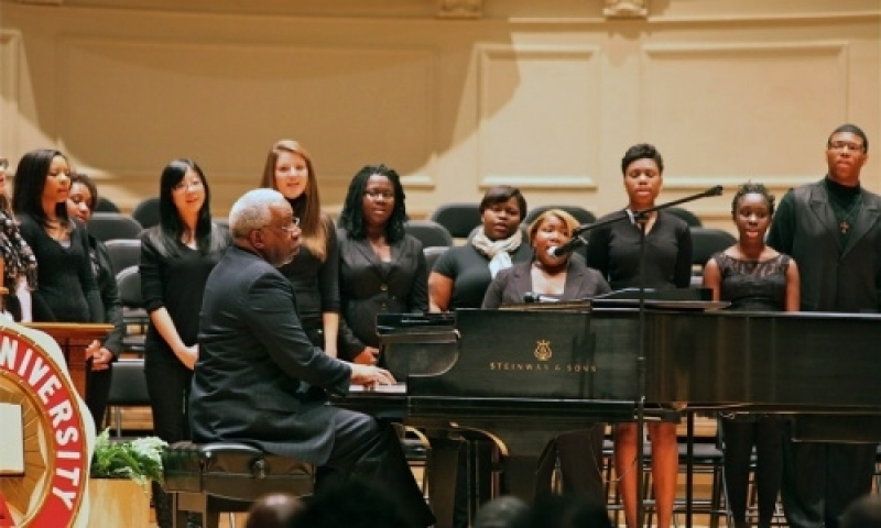 Students performing at MLK day