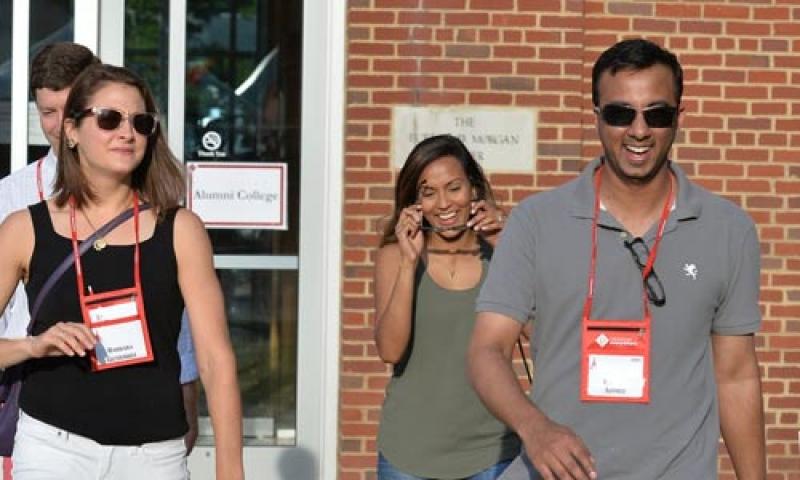 Classmates reconnect at the Denison University Reunion