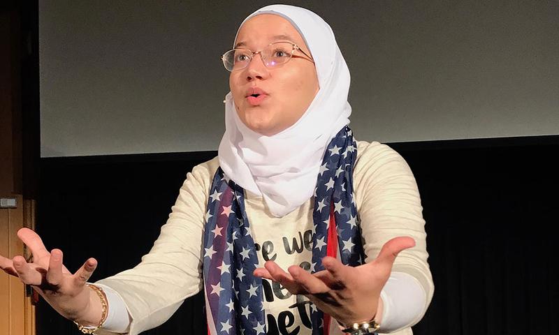 Sara Abou Rashed '21 during rehersal