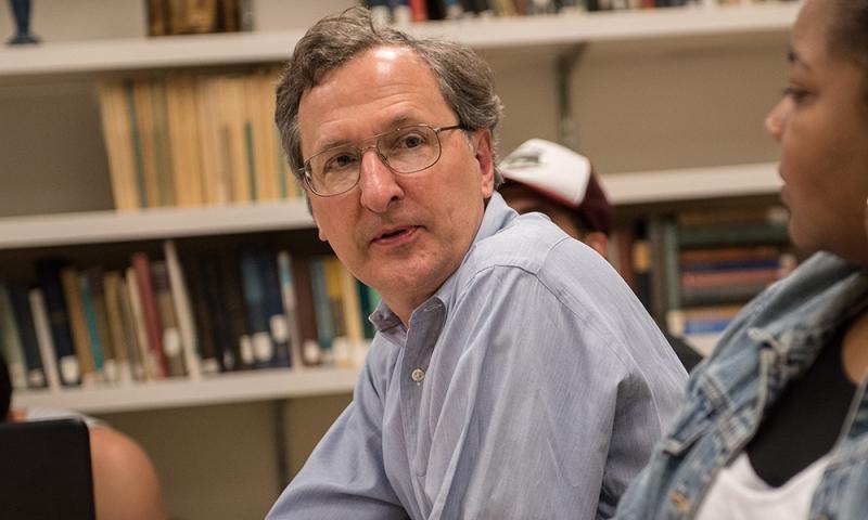 John Cort in Knapp classroom 2017.