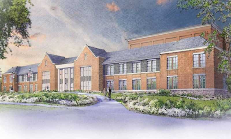 Rendering of The Michael  D. Eisner Center for the Performing Arts