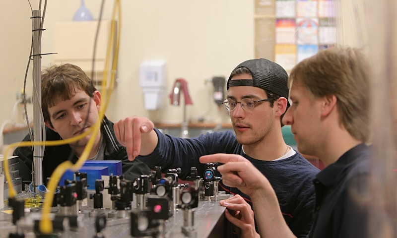 Assistant professor of physics Steven Olmschenk