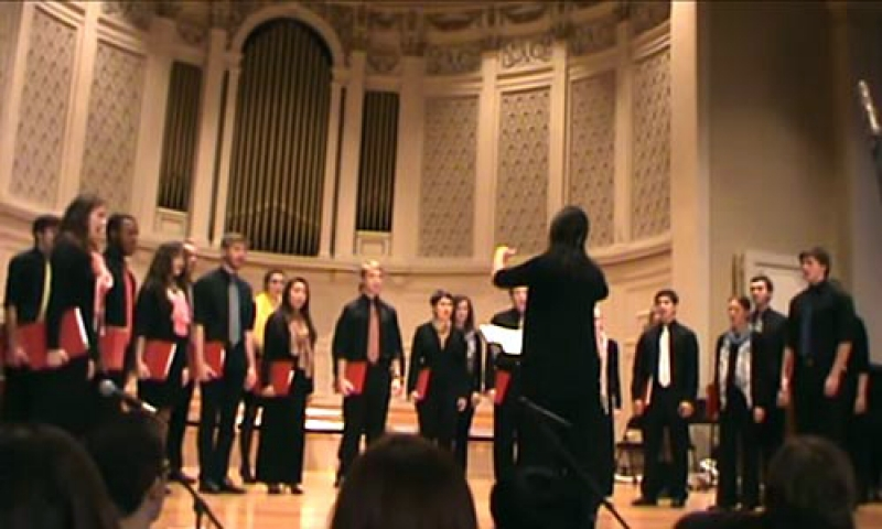 photo of the Denison Chamber Singers in concert