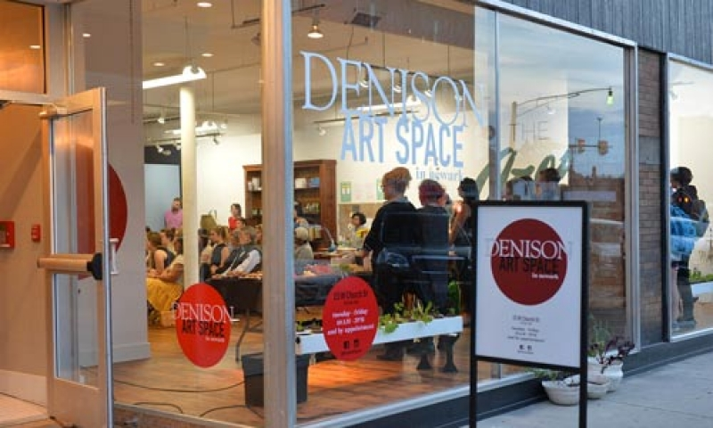 An exterior view of the Denison Art Space in Newark