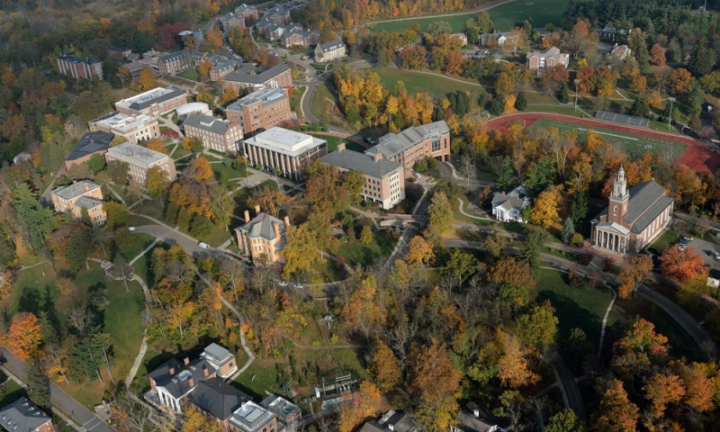 View of campus from above