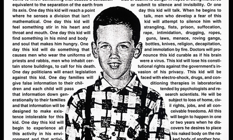 David WOJNAROWICZ Untitled (One Day this Kid...)