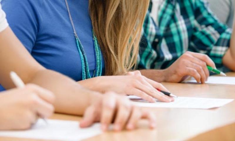 Students taking final examinations