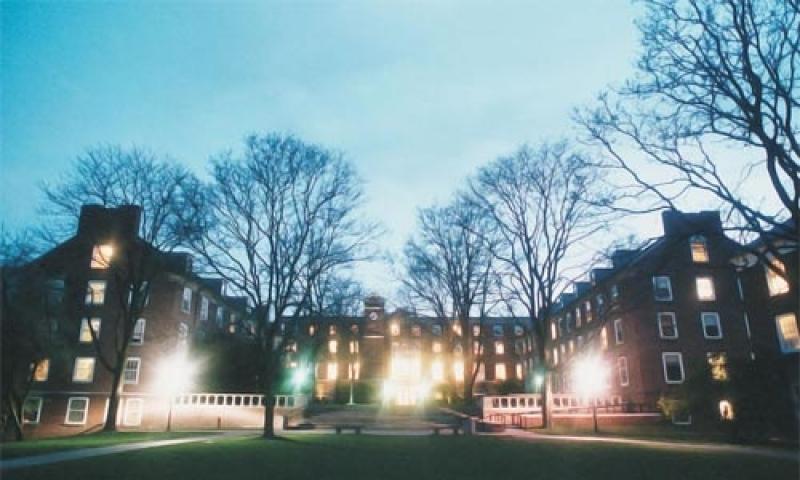 East quad at night