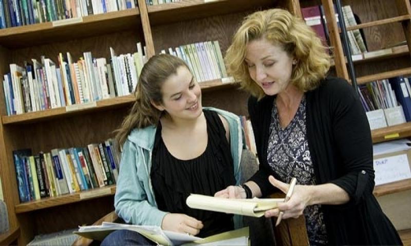 Student with advisor