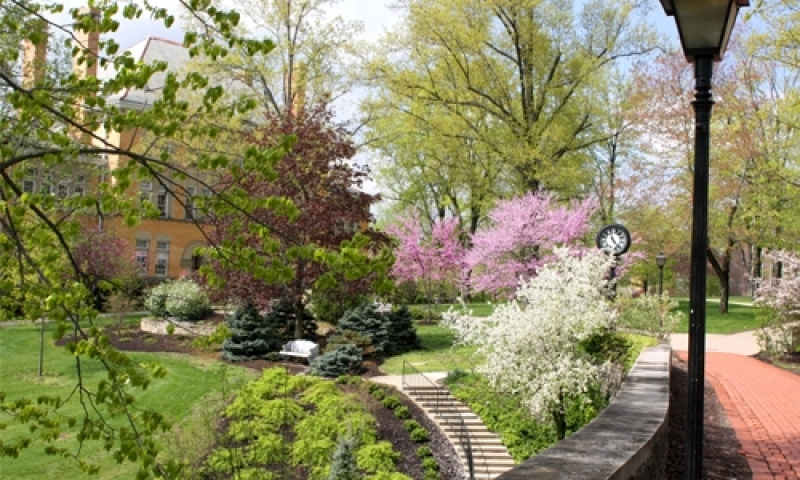 Doane and chapel walk in the spring