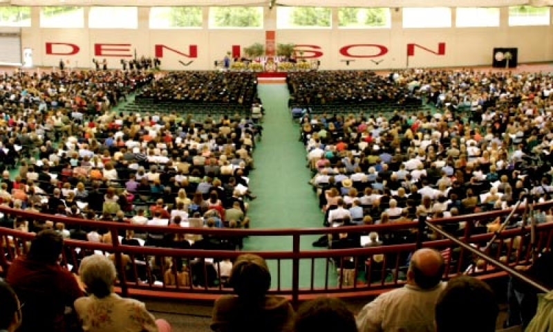Denison Commencement in the Mitchell Center