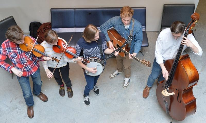 The Adam Schlenker Bluegrass Band featuring Hayes Griffin
