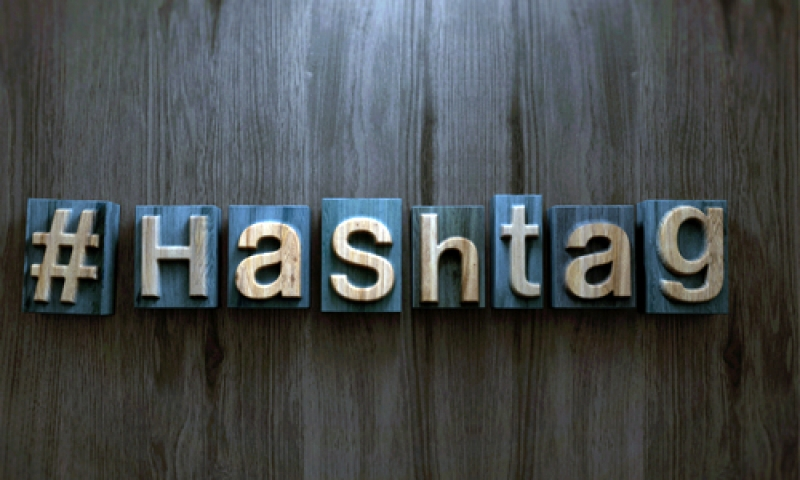 """Photo of the word """"#HaShtag"""" on the wall"""