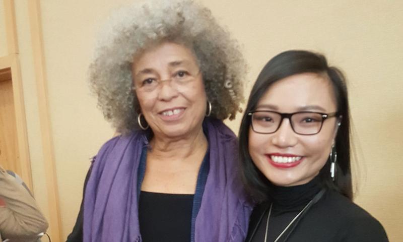Angela Davis and Linh Duong '19