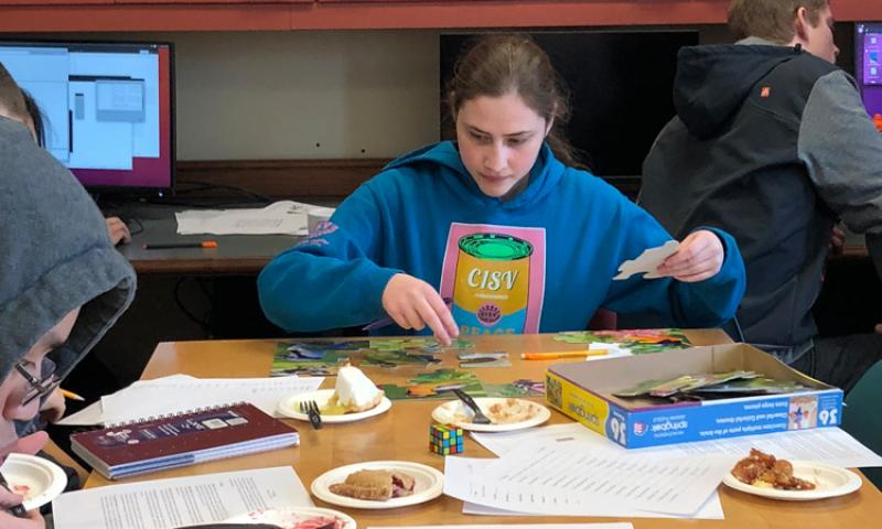 Student at the Pi-athlon