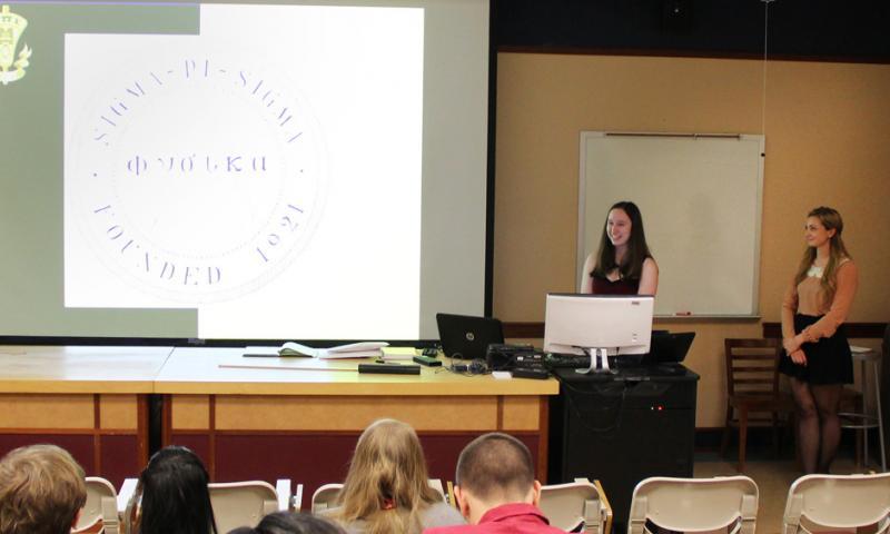 Sigma Pi Sigma Presentation