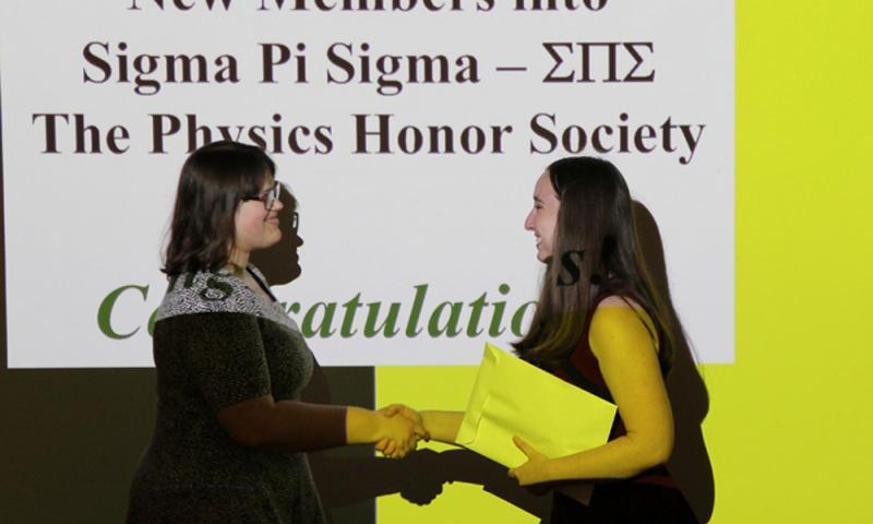 Sigma Pi Sigma Inductees